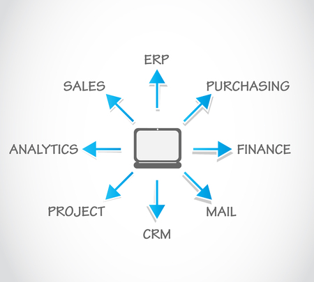 Enterprise Resource Planning ERP Vector