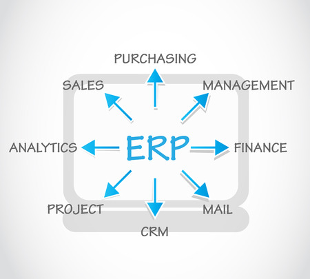 ERP, Enterprise Resource Planning Vector