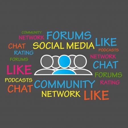 microblogging: Forums, Community, Social Media Illustration