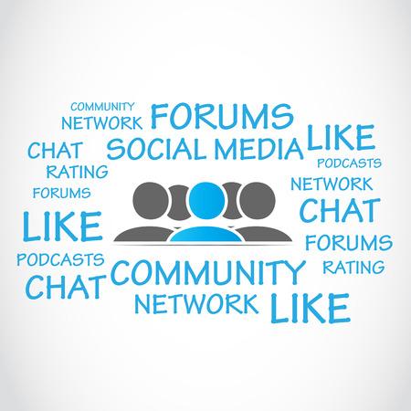 podcasts: social media forums Illustration