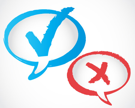 check mark speech bubble Vector