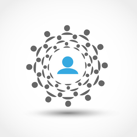 人々 のソーシャルネットワー キングの輪