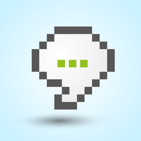 pixelart: Communication pixel-art speech bubble Illustration