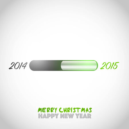 New year 2015 is loading Vector
