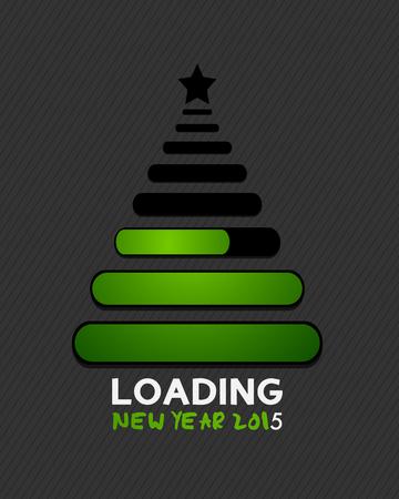 芸術的: 2015 クリスマス ツリーの読み込みバー インターネット