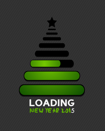 2015 christmas tree internet loading bars Vector
