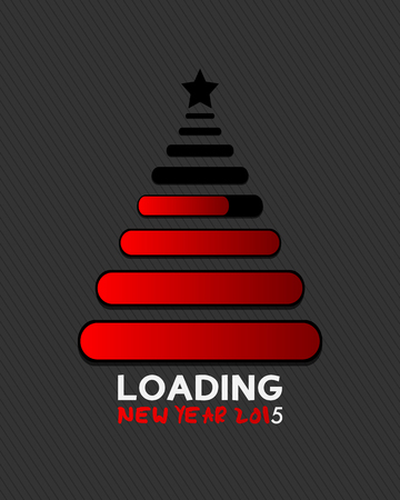 2015 christmas tree loading bar Vector