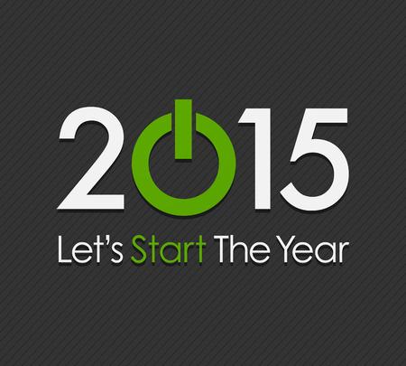 nieuwjaar: Start Nieuw Jaar 2015 Stock Illustratie