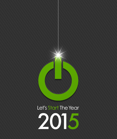 new year counter: 2015 christmas ball power button