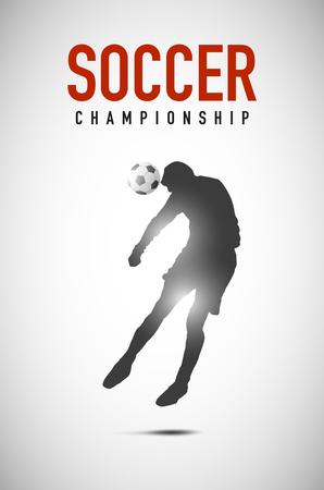 Soccer head goal silhouette