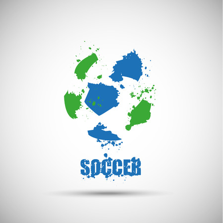 Abstract soccer background Illustration