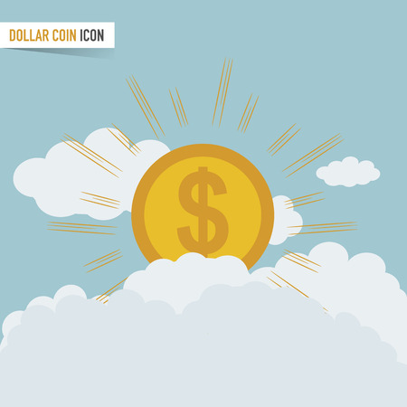 Dollar sign with gold rays