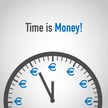 Time is Money, Euro Concept Illustration