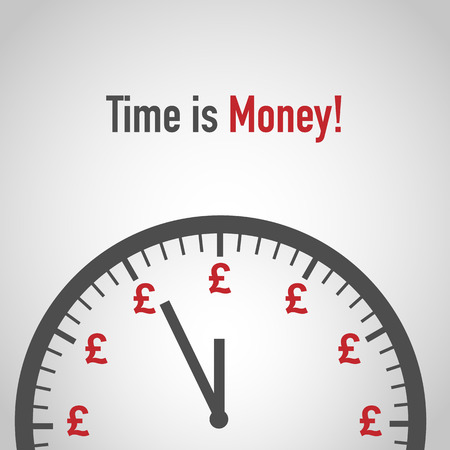 Time is money, Pound Sign and Clock