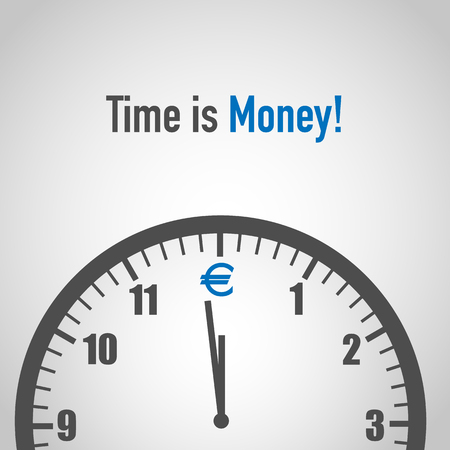 time is money with euro icon