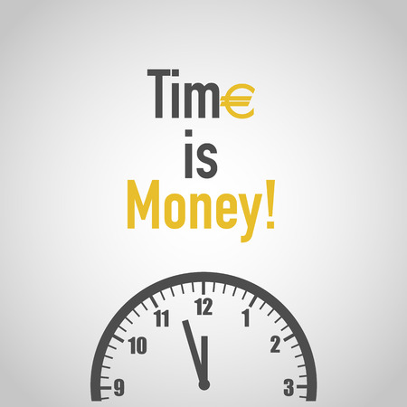 Time is money with clock