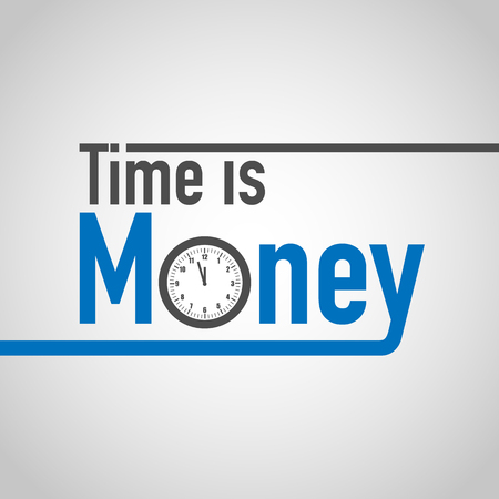 Time is Money. Clock Concept