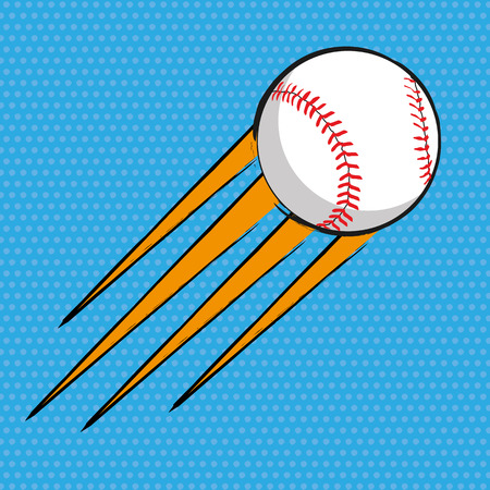 Baseball comics poster background 일러스트