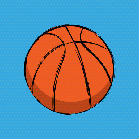 Orange Basketball Comics Background Banco de Imagens - 115846846