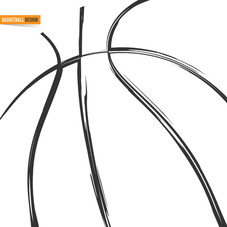 Silhouette of a basketball Illustration