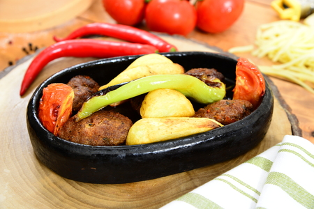 olla: Traditional turkish Casserole meatball