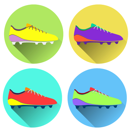 soccer shoes: Vector illustration of soccer shoes, american football boots ico