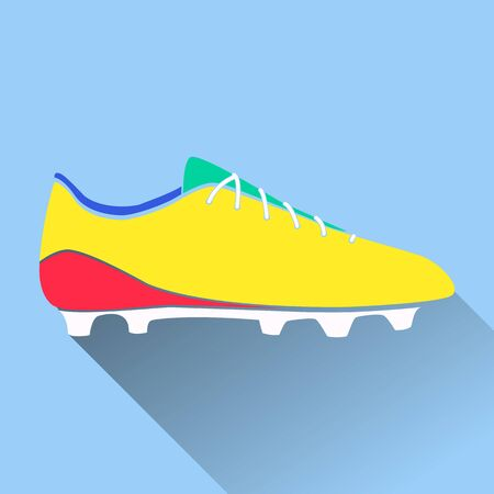soccer boots: Vector illustration of soccer shoes, american football boots ico