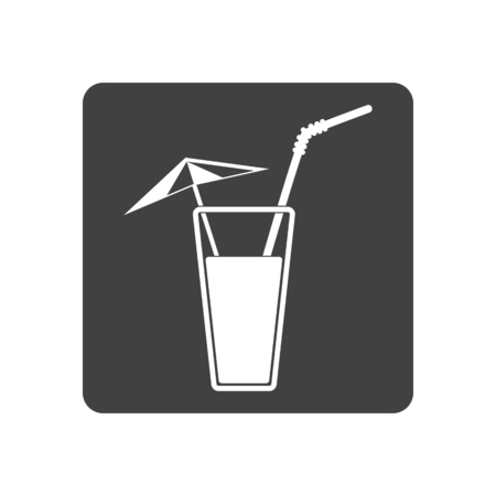 tubule: Vector illustration of alcohol drink icon. Cold summer cocktail