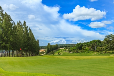 of course: golf green at mae moh mine Thailand