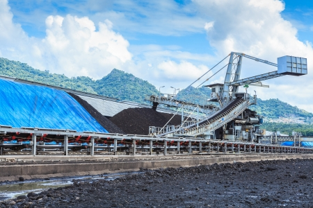 Stockpile of Coal at Mae Moh THAILAND
