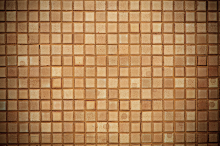 brown square tiles pattern wall paper
