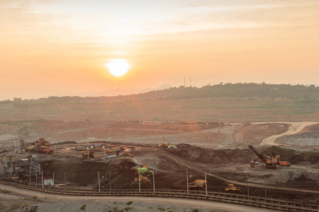 Open Pit in Sunset at Mae Mo THAILAND photo