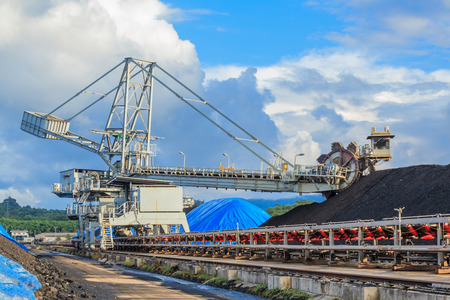 Reclaimer in Stockpile of Coal at Mae Mo Mine THAILAND