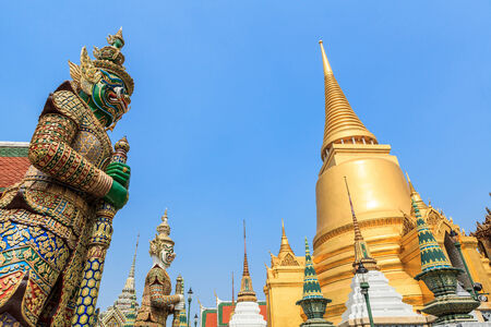 Wat Phra Kaew,Temple of the Emerald Buddha Phra Si Rattana Satsadaram Stock Photo