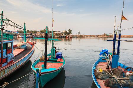 fisherman boat: Fisherman Boat in harbor