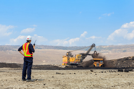 Ingeniero de Minas en la mina de lignito