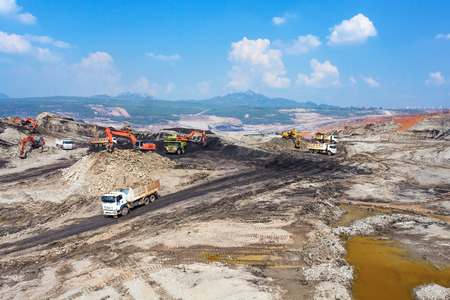 Lignite Mining at North ofvTHAILAND
