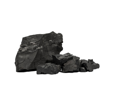 Black Coal in Isolate  Stock Photo