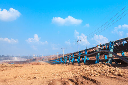 Waste Removal by Conveyor System at North of THAILAND photo