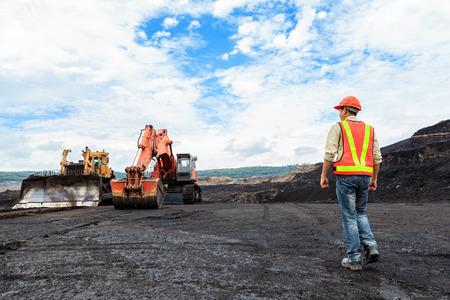 carbone: Operaio in Pit a nord della Thailandia