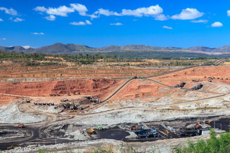 lignite: open pit lignite mine at mae moh Lampang  Thailand Stock Photo
