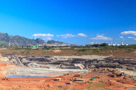 lignite: open pit lignite mine at mae-moh Lampang  Thailand Stock Photo