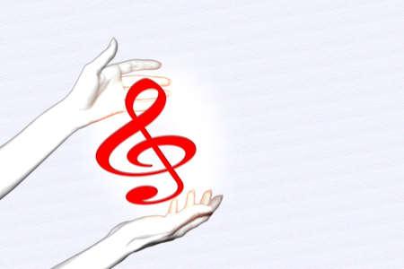 keeps: feminine hands keeps music note