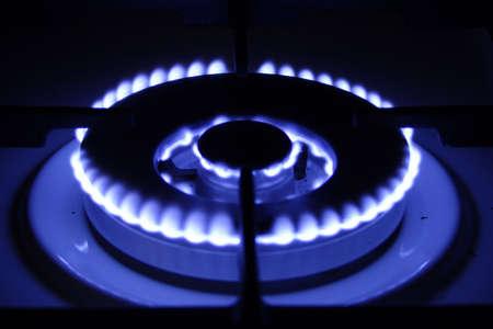 fervour: gas burner with blaze blue-blue colour on black