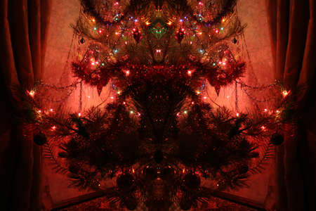 manner: abstract picture decoration in the manner of symmetrical fir tree
