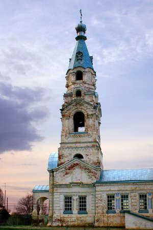 church bell: bell tower rural church