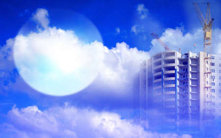 abstract scene sky and elements construction vein of the building Stock Photo - 2955668