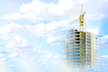 abstract scene sky and elements construction vein of the building Stock Photo - 2955672