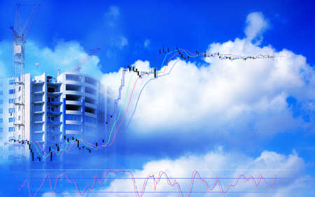 abstract scene construction high-altitude vein of the building with element sky and cloud Stock Photo - 3066014