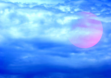 serene: ball on background sky and cloud